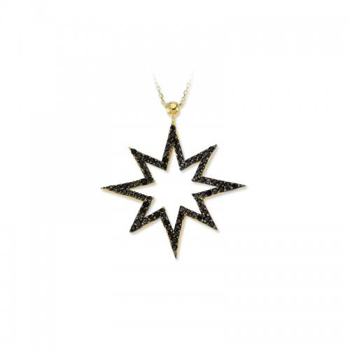 Altın   Kutup Yıldızı    Kolye