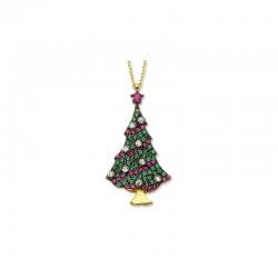 Altın Noel Ağacı Kolye